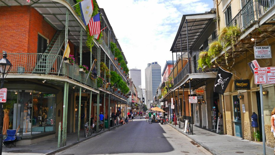 Zona recomendada donde alojarse en Nueva Orleans - Barrio Francés