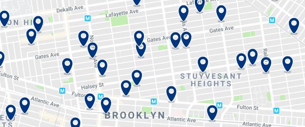 Brooklyn - Bed Stuy - Haz clic para ver todos los hoteles en un mapa