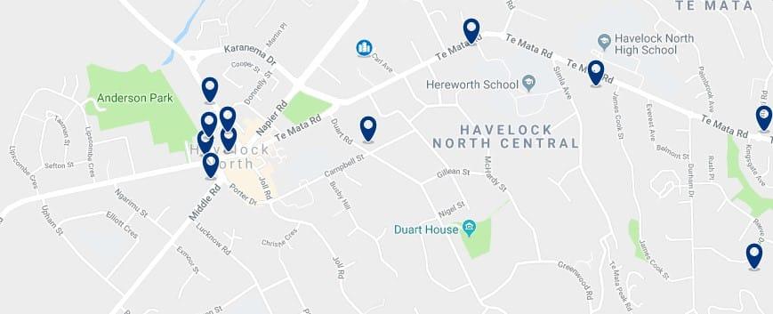 Havelock North - Haz clic para ver todos los hoteles en un mapa