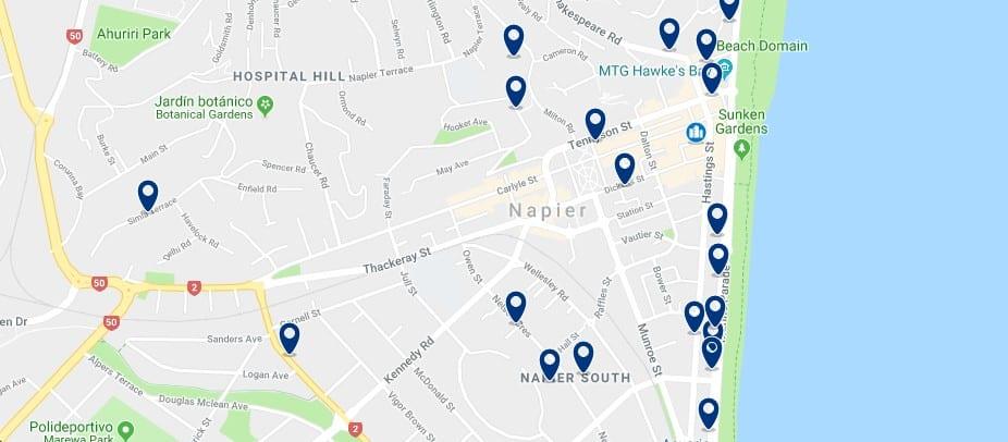 Napier - Haz clic para ver todos los hoteles en un mapa