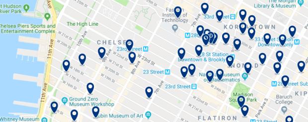 Nueva York - Chelsea - Haz clic para ver todos los hoteles en un mapa