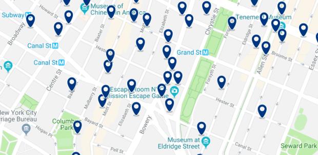 Nueva York - Chinatown - Haz clic para ver todos los hoteles en un mapa
