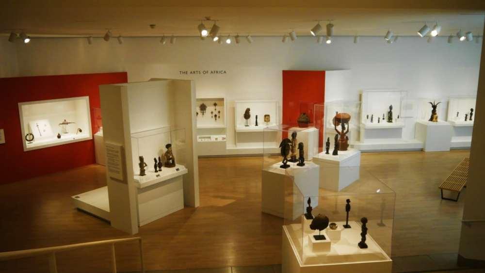 Sala de arte africano del Museo de Arte de Dallas