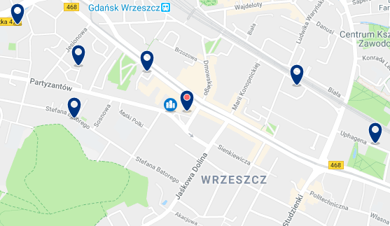 Gdansk – Wrzeszcz – Haz clic para ver todos los hoteles en un mapa