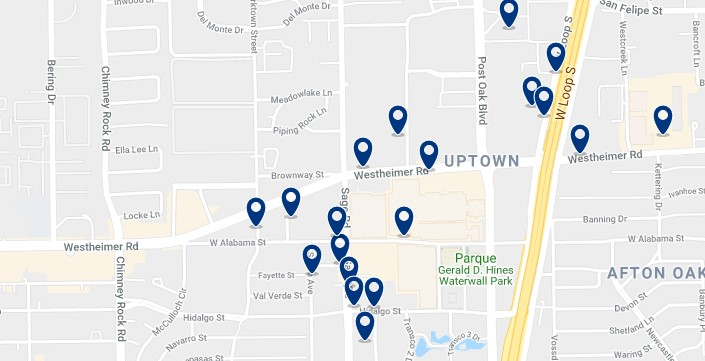 Houston - Galleria - Haz clic para ver todos los hoteles en un mapa