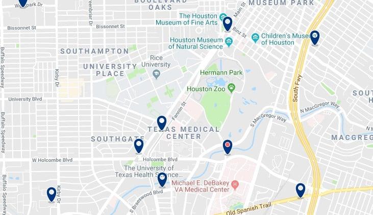 Houston - Museum District - Haz clic para ver todos los hoteles en un mapa