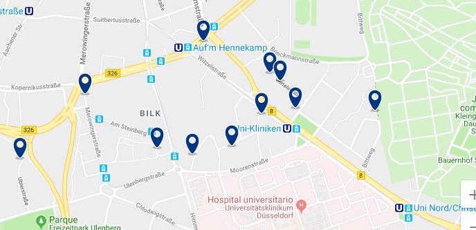 Düsseldorf – Bilk – Haz clic para ver todos los hoteles en un mapa