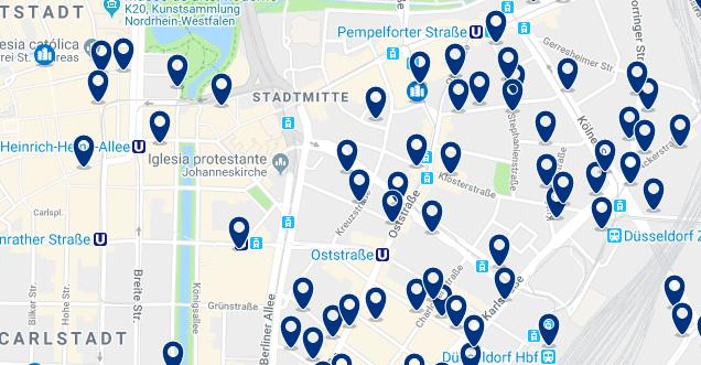 Düsseldorf – Stadtmitte – Haz clic para ver todos los hoteles en un mapa
