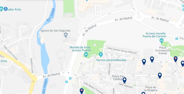 Ávila - Cuatro Postes - Haz clic para ver todos los hoteles en un mapa