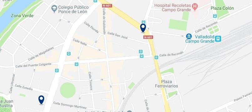 Valladolid - Cerca de la Estación de Renfe - Haz clic para ver todos los hoteles en un mapa
