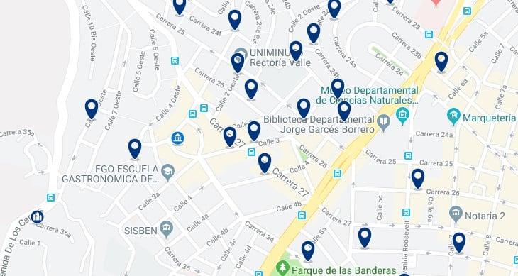 Cali - San Fernando - Clica aquí para ver todos los hoteles en un mapa