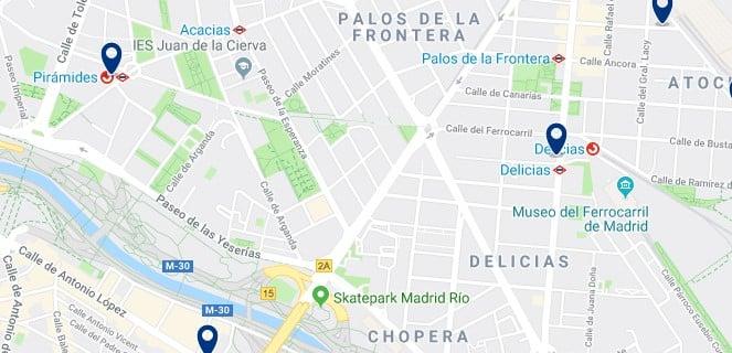 Madrid - Arganzuela - Haz clic para ver todos los hoteles en un mapa