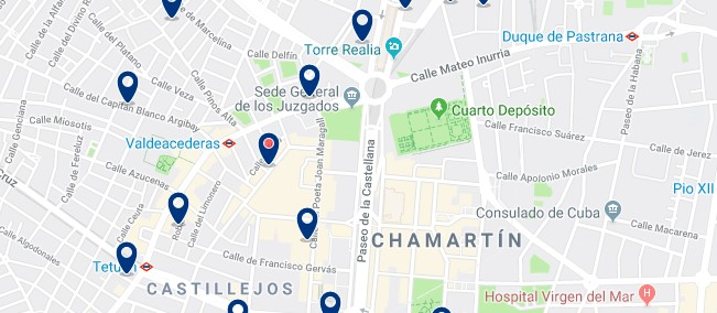 Madrid - Chamartín - Haz clic para ver todos los hoteles en un mapa
