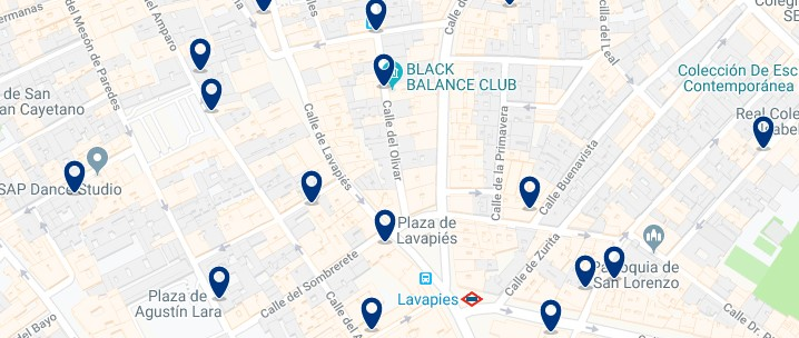 Madrid - Lavapiés - Haz clic para ver todos los hoteles en un mapa