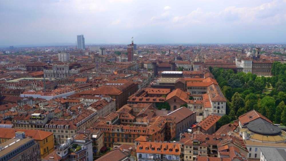 Vistas de Turín desde la Mole Antonelliana