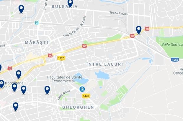 Cluj-Napoca - Gheorgheni & Intre Lacuri - Clica sobre el mapa para ver todo el alojamiento en esta zona