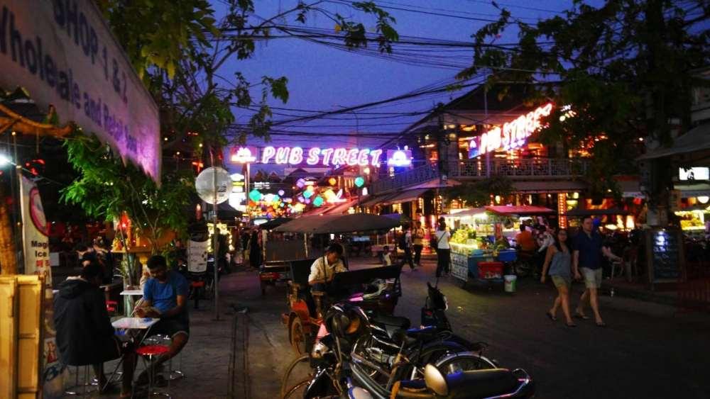 Mejores zonas donde alojarse en Siem Reap - Pub Street y centro de la ciudad
