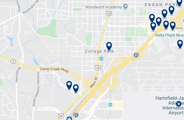 Atlanta - College Park - Haz clic para ver todos los hoteles en un mapa