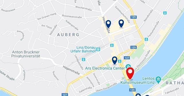 Linz - Norte del Danubio - Clica sobre el mapa para ver todo el alojamiento en esta zona