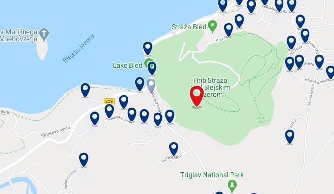 Bled - Straza Hill - Clica sobre el mapa para ver todo el alojamiento en esta zona