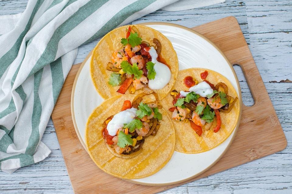 Comida mexicana - Tacos de camarón