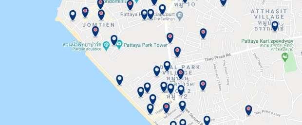 Pattaya - Dongtan Beach - Clica sobre el mapa para ver todo el alojamiento en esta zona