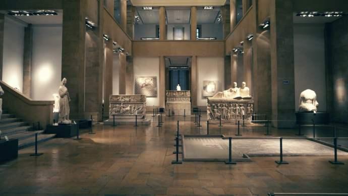 Sala de sarcófagos - Museo Nacional de Beirut