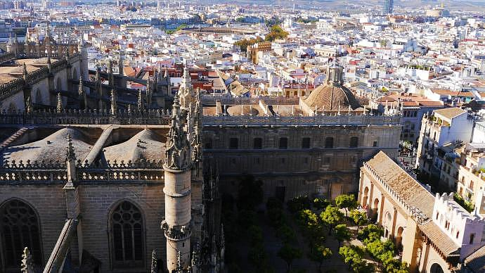 Vistas desde la Giralda de Sevilla