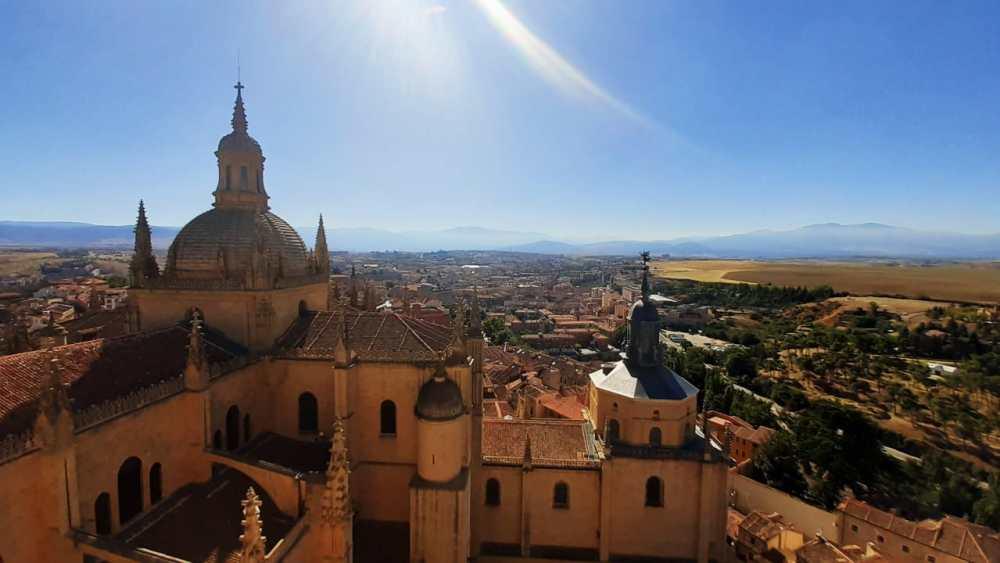 Vistas desde la torre de la catedral de Segovia