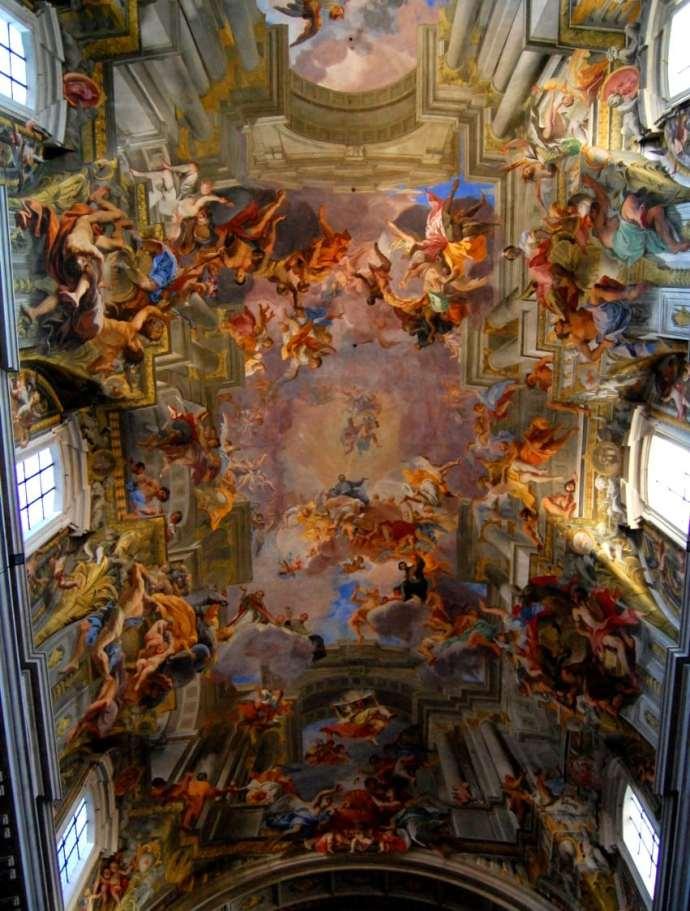Techo de la iglesia de San Ignacio de Loyola, Roma, Italia