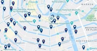 Dónde dormir en Ámsterdam para vida nocturna – Rembrandtplein – Haz clic aquí para ver todos los hoteles en un mapa