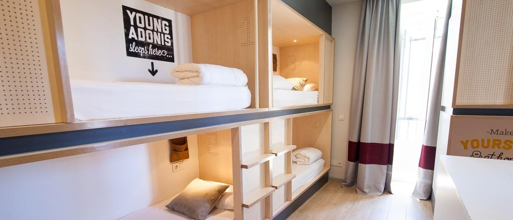 Habitaciones compartidas de Toc Hostel Madrid - Mejores hostels de Madrid