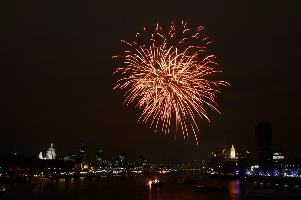Fireworks over London