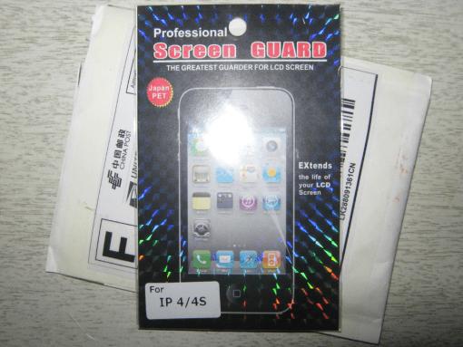 PROFESSIONAL SCREEN GUARD. Also crazy professional rainbow hologram print.