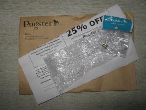 Pugster envelop contents.