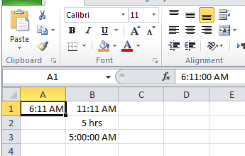 Calculate hours between two cells