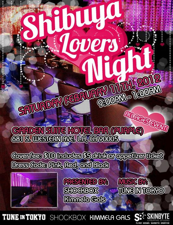 shibuya lovers night flier
