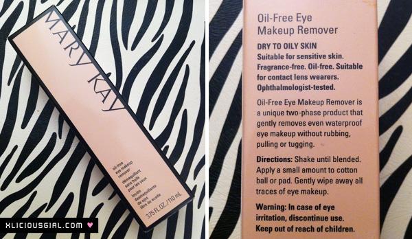 mary kay eye makeup remover packaging box