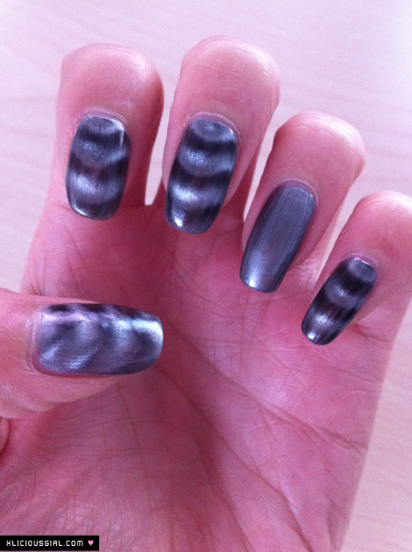 magnetic nail polish result