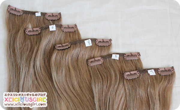 dirty looks full head hair extensions tanned blonde medium blonde review