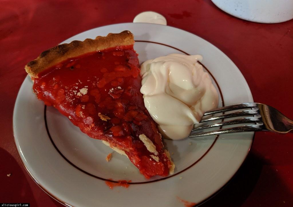 pie and double cream