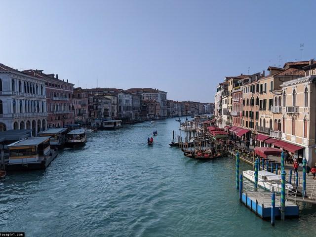 view from Rialto Bridge in Venice