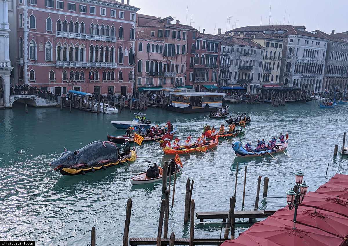 colorful boats on the grand canal
