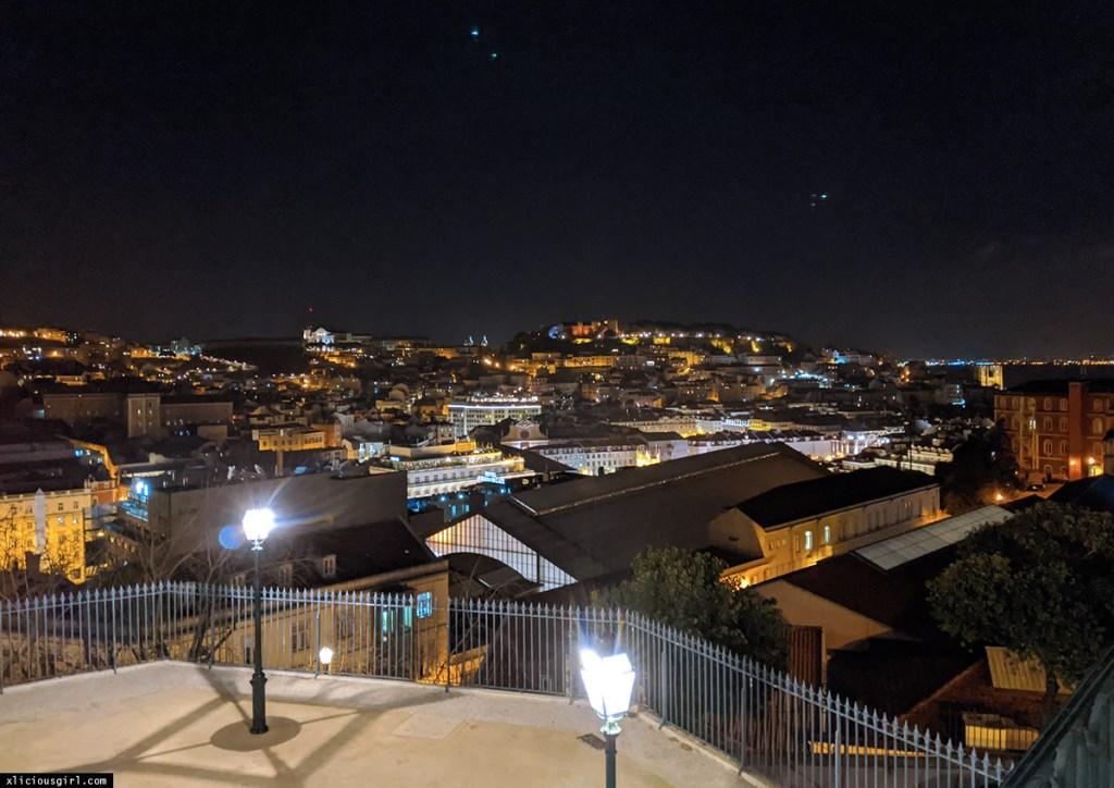 lisbon city lights