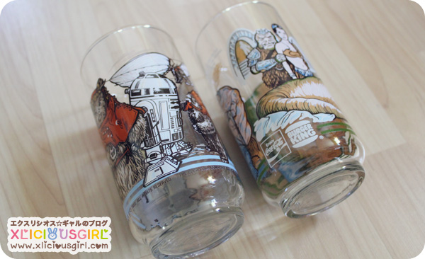 old vintage star wars glass cups burger king