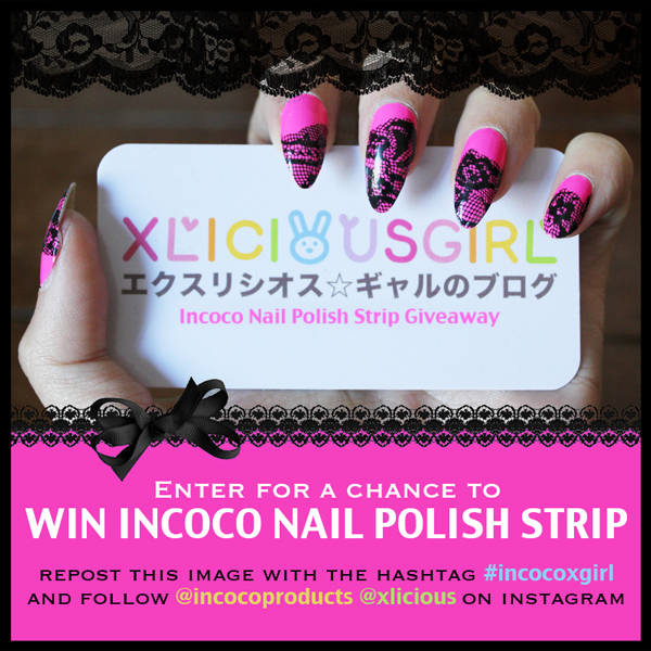 incoco nail polish strips appliques giveaway instagram