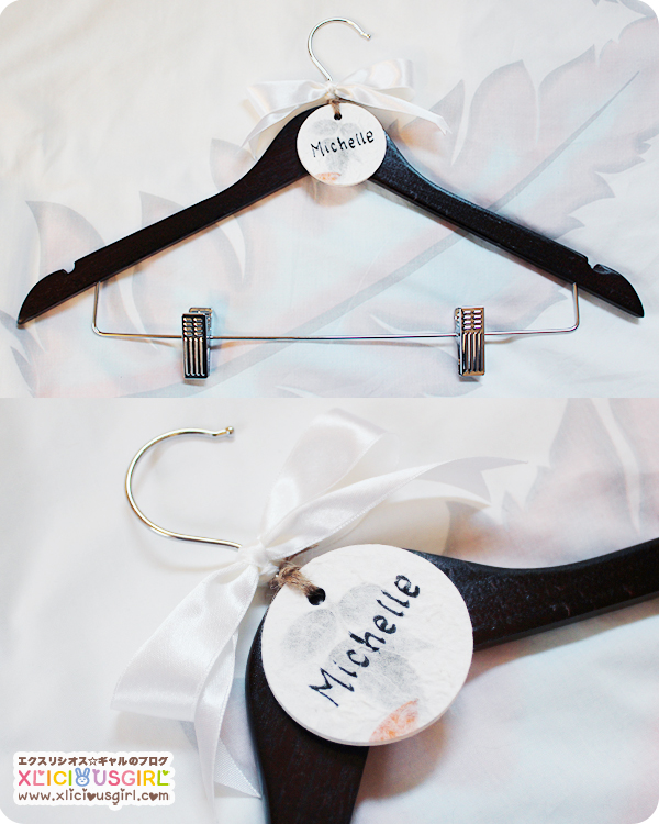 diy wedding dress hanger for bride and bridesmaids