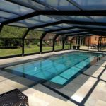 Outdoor Swimming Pool With Enclosure