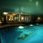 Indoor Swimming Pool With Swimmer