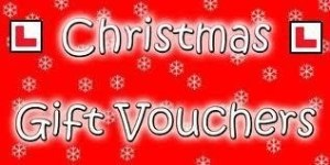 Driving lesson gift vouchers